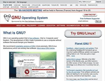 Screenshot for gnu.org