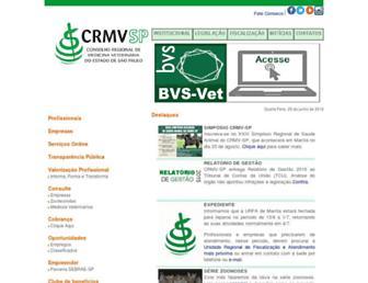 crmvsp.gov.br screenshot