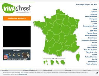 Main page screenshot of vivastreet.fr