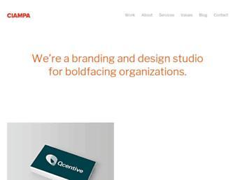 ciampacreative.com screenshot