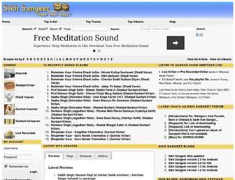 sikhsangeet.com screenshot