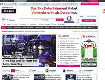 Main page screenshot of t-online.de