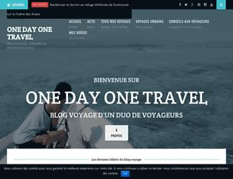 onedayonetravel.com screenshot