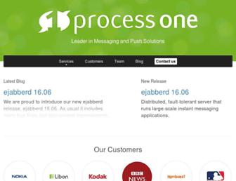 Main page screenshot of process-one.net
