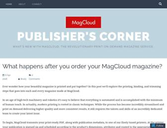 blog.magcloud.com screenshot