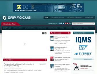 erpfocus.com screenshot
