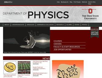 physics.osu.edu screenshot