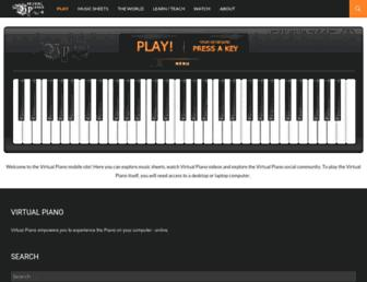 virtualpiano.net screenshot