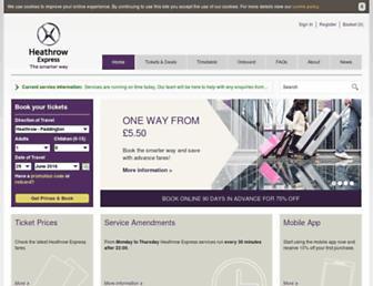 heathrowexpress.com screenshot