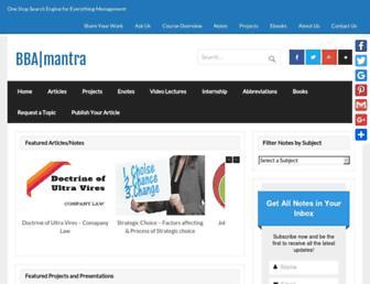 bbamantra.com screenshot