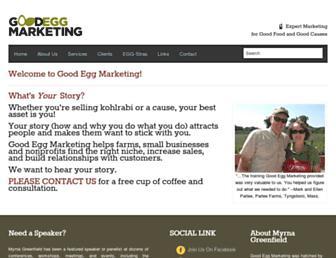 goodeggmarketing.com screenshot