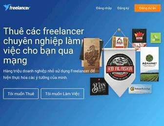 vn.freelancer.com screenshot