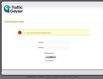 Main page screenshot of trafficgeyser.net