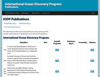 publications.iodp.org screenshot
