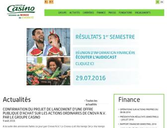 Thumbshot of Groupe-casino.fr