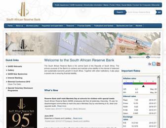resbank.co.za screenshot