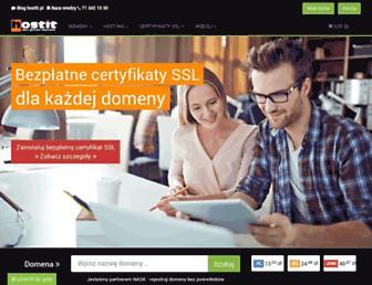 Main page screenshot of hostit.pl