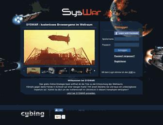 Main page screenshot of syswar.de