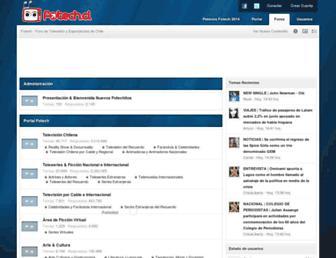 Main page screenshot of foros.fotech.cl