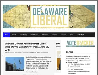 Main page screenshot of delawareliberal.net