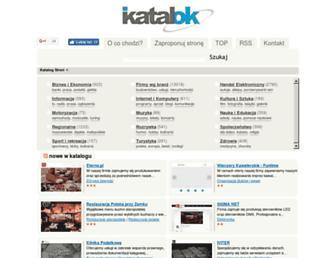 Main page screenshot of katalok.pl