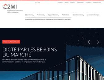 Main page screenshot of c2mi.ca