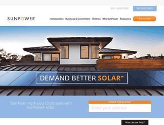 us.sunpower.com screenshot