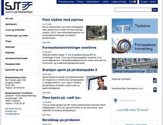 Main page screenshot of sjt.no
