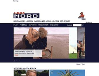 Main page screenshot of rtl-regional.de