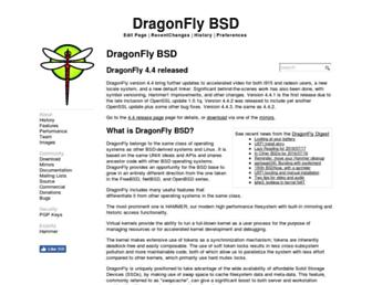 dragonflybsd.org screenshot