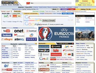 Main page screenshot of start24.pl