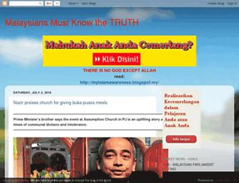 malaysiansmustknowthetruth.blogspot.com screenshot