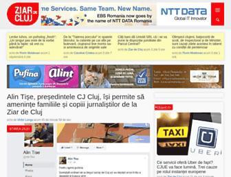 Main page screenshot of ziardecluj.ro