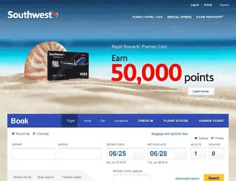 southwest.com screenshot