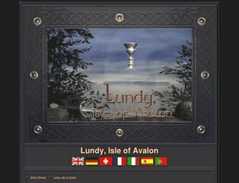 Main page screenshot of lundyisleofavalon.co.uk
