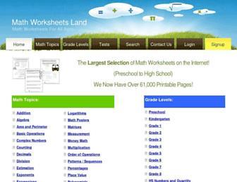 mathworksheetsland.com screenshot