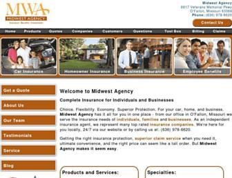 midwestagency.com screenshot