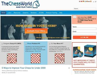 thechessworld.com screenshot