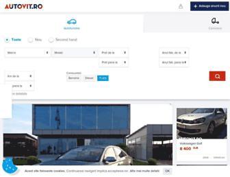 Main page screenshot of autovit.ro