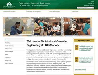ece.uncc.edu screenshot