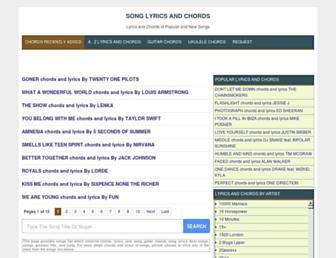 elyricsandchords.blogspot.com screenshot