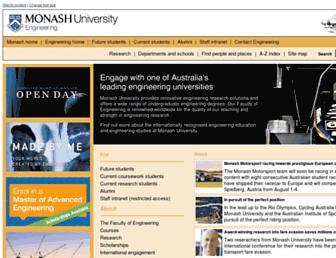 eng.monash.edu.au screenshot