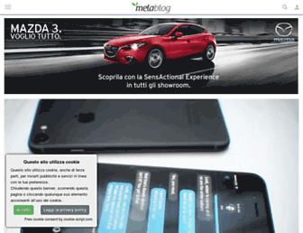 Main page screenshot of melablog.it