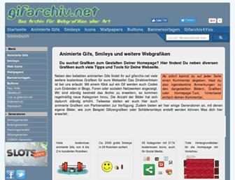 Main page screenshot of gifarchiv.net