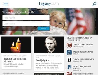 m.legacy.com screenshot
