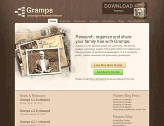 gramps-project.org screenshot