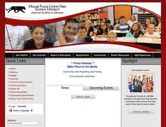 Main page screenshot of millerplace.k12.ny.us