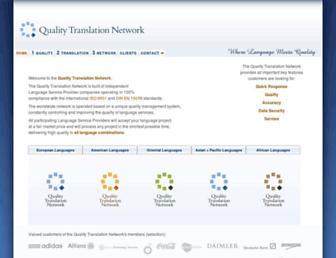 Main page screenshot of qtn.net