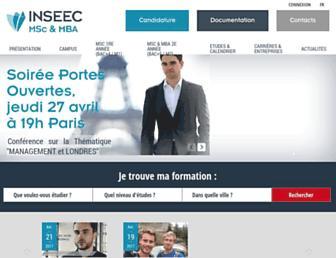 masters.inseec.com screenshot