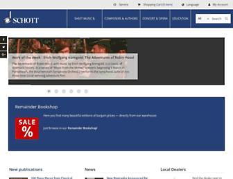 en.schott-music.com screenshot